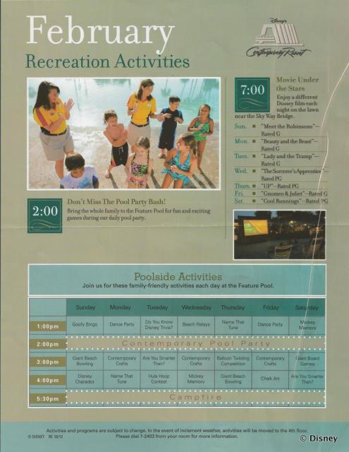 2012 February Activity Guide