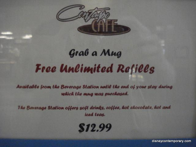 Contempo Cafe unlimited mugs