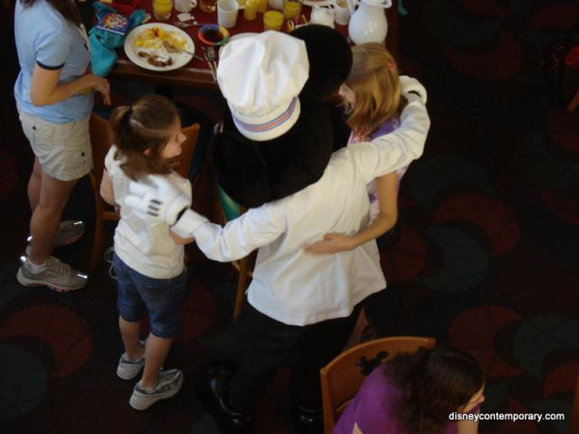 Chef Mickey greets some guests