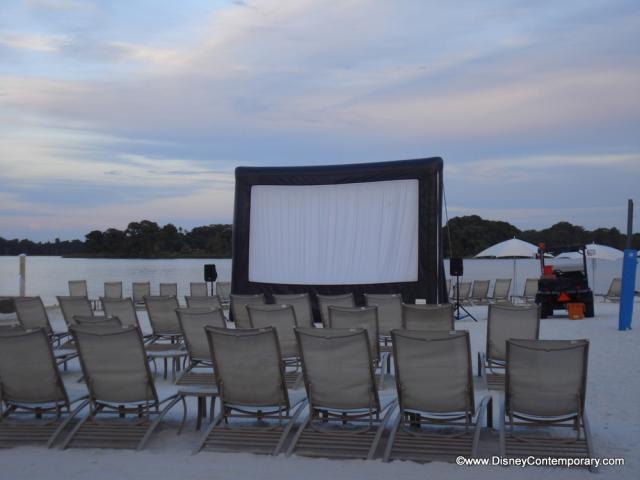 Movie on the Beach at Contemporary
